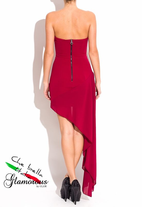 Maxi dress Due Linee - Wine