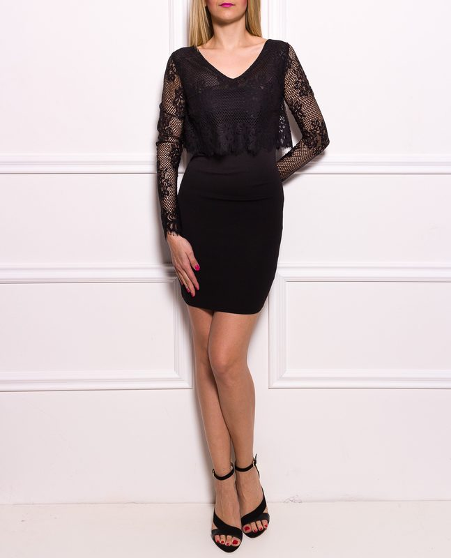 Party dress Due Linee - Black