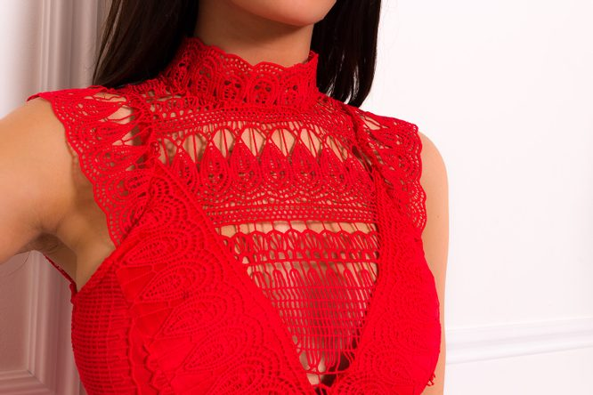 Lace dress Due Linee - Red