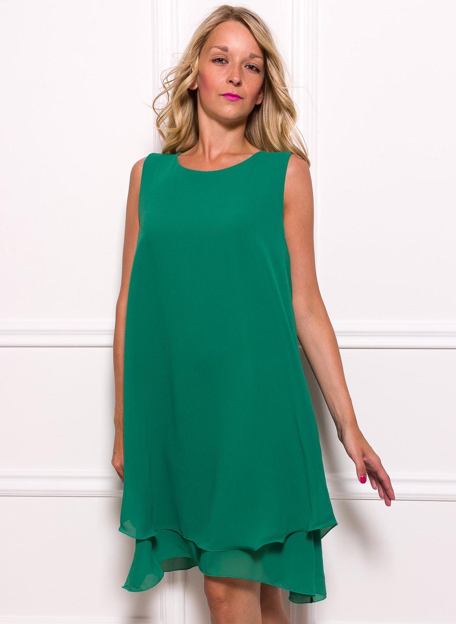 213c19fbf80d Dámské šifonové delší šaty volný střih - zelená - Glamorous by Glam ...