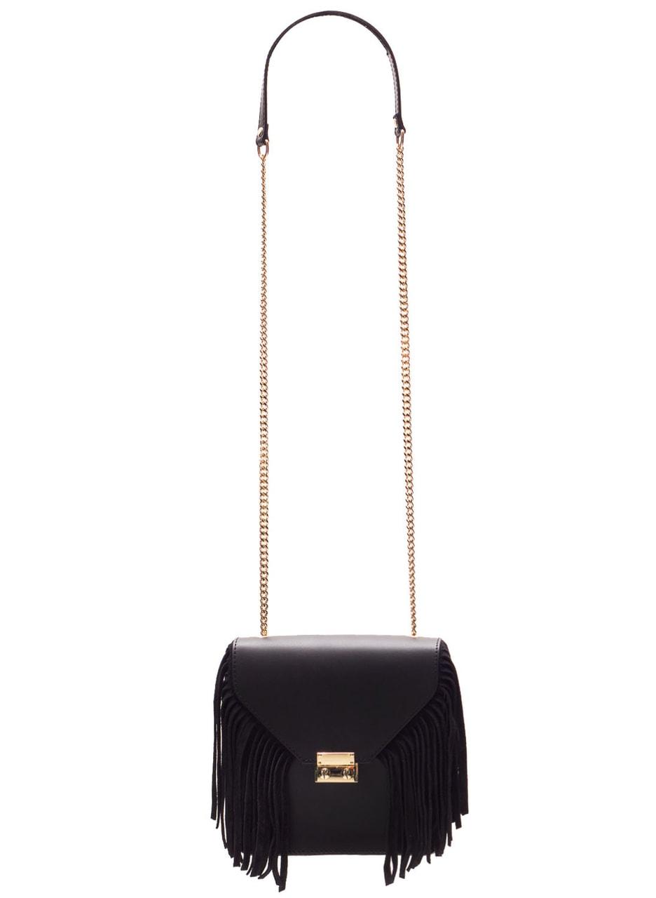 114399d89 Glamadise.sk - Dámske luxusné kožená kabelka cez rameno - čierna ...