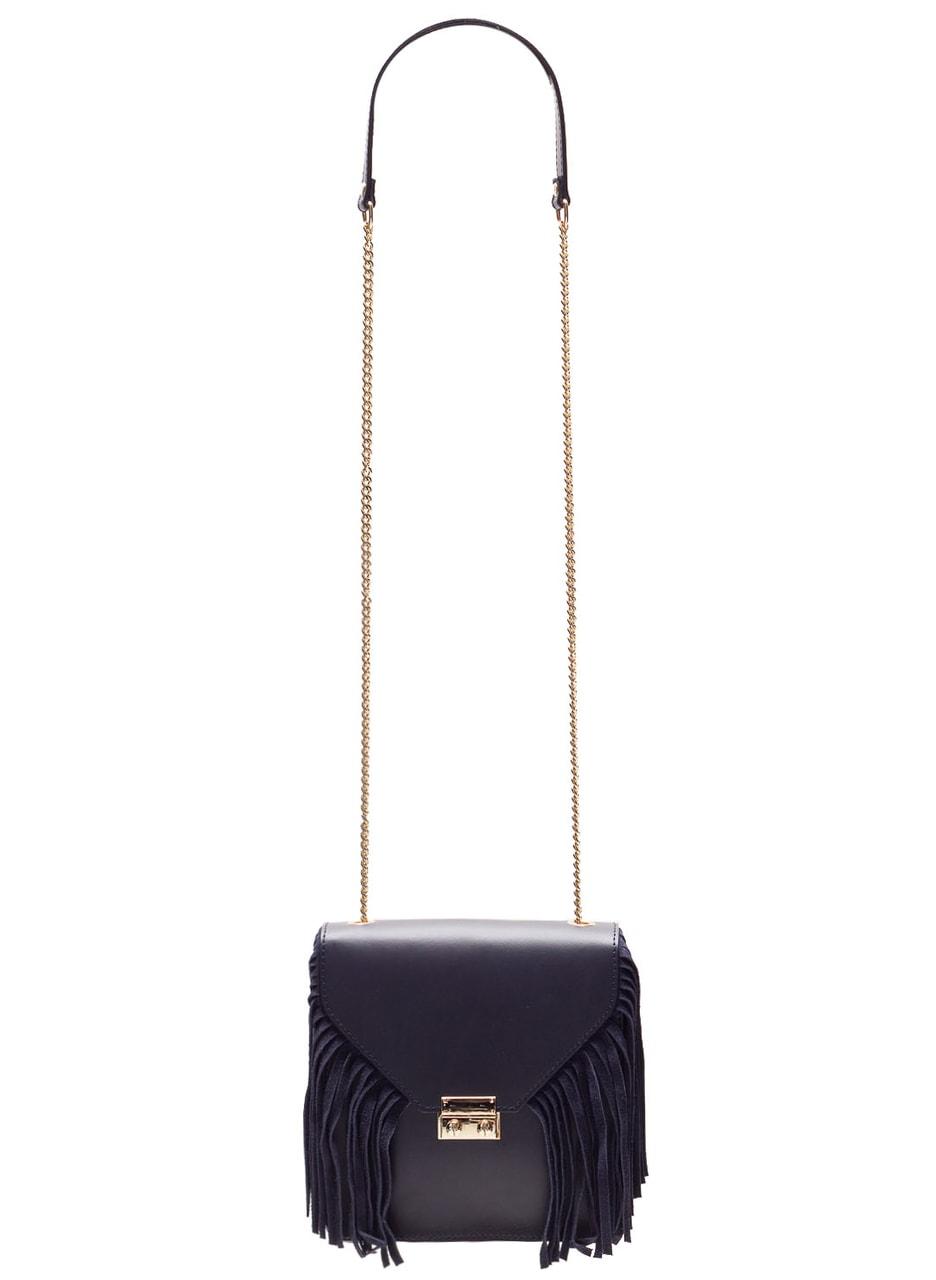 34ff8f42c3e2 Dámská luxusní kožená kabelka přes rameno - tmavě modrá - Glamorous ...