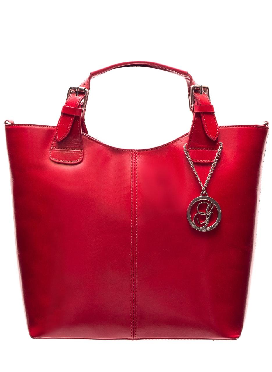 d0324724a7 Glamadise.sk - Dámska kožená kabelka do ruky - červená - Glamorous ...