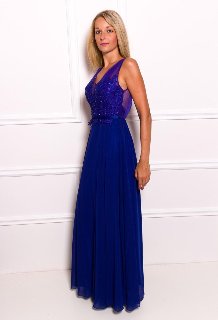 b534008b7e55 Glamadise.sk - Spoločenské dlhé šaty s čipkou a korálky - kráľovsky ...