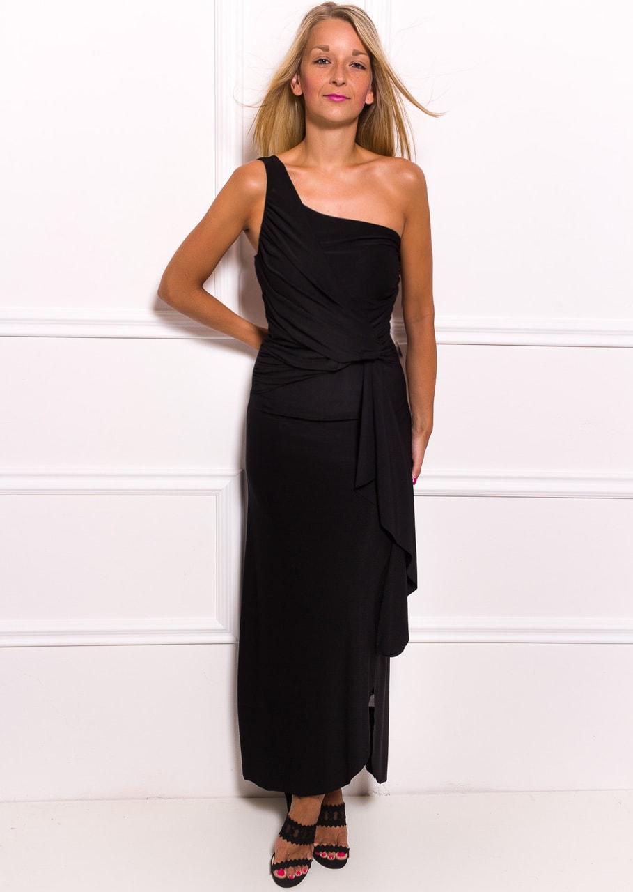 2d486f175783 Glamadise.sk - Spoločenské dlhé šaty na jedno rameno s naberaním na ...