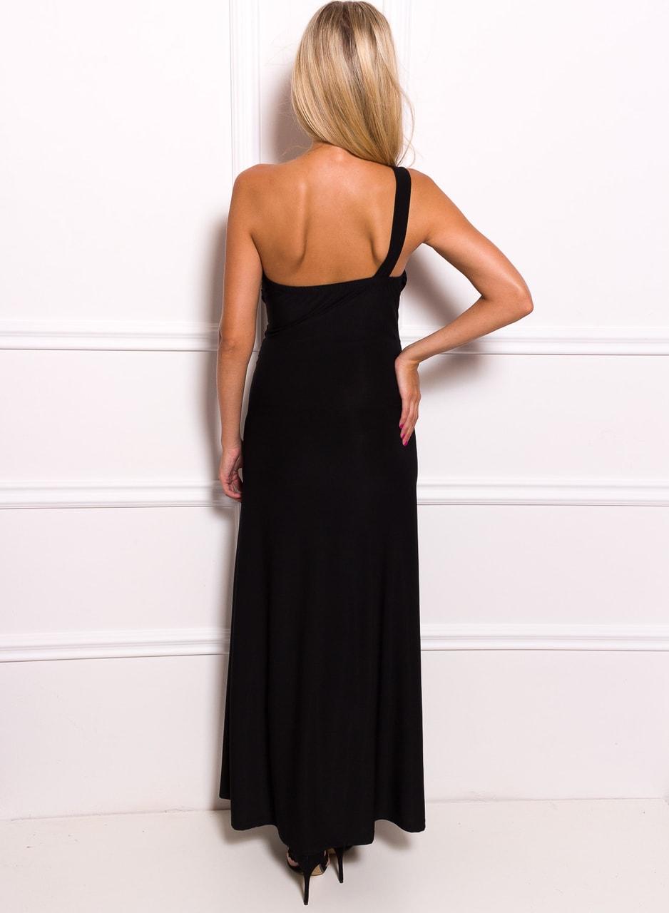 2a5bf0d4924c Glamadise.sk - Spoločenské dlhé šaty na jedno rameno s naberaním na ...