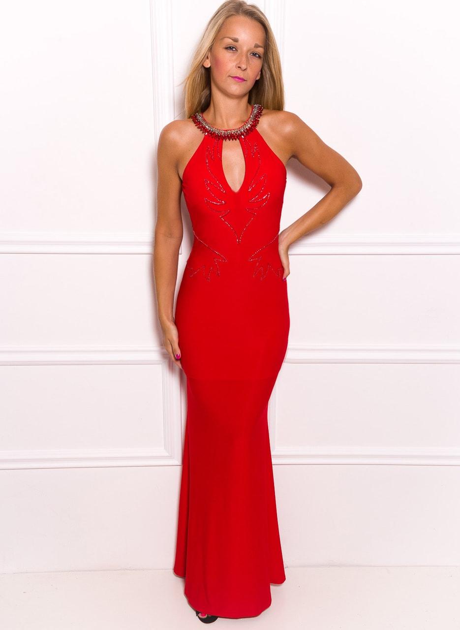 9a47175615 Glamadise.hu Fashion paradise - Női hosszú ruha Due Linee - Piros ...