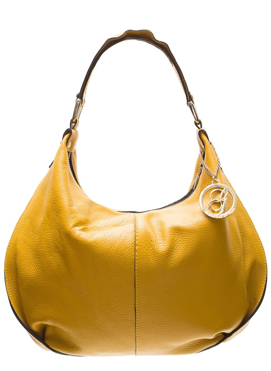 b016ba4765 Glamadise.sk - Dámska kožená kabelka cez rameno pútko s volánom ...