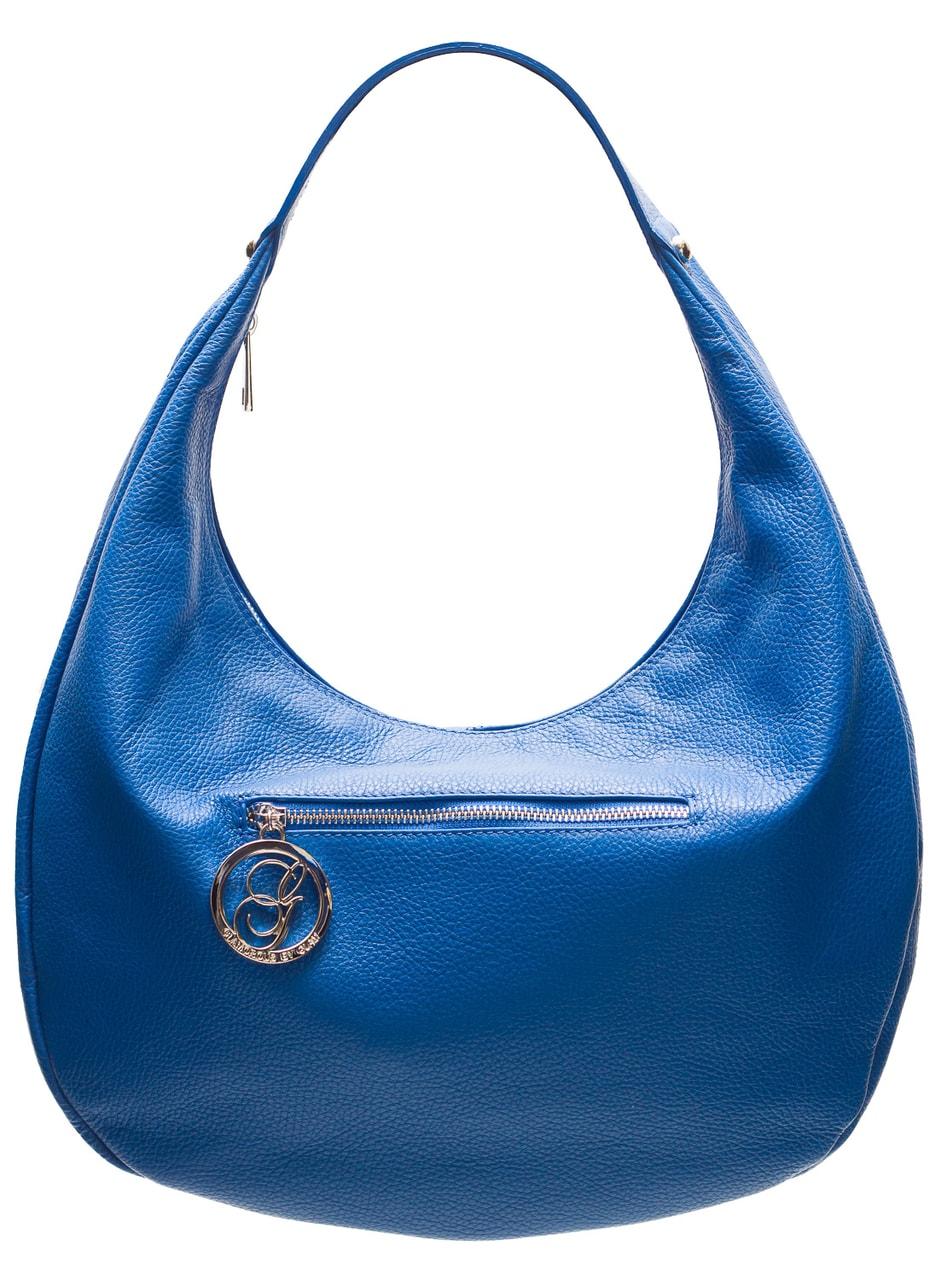 78824790a3 Glamadise.sk - Dámska kožená kabelka pevné ucho - kráľovská modrá ...