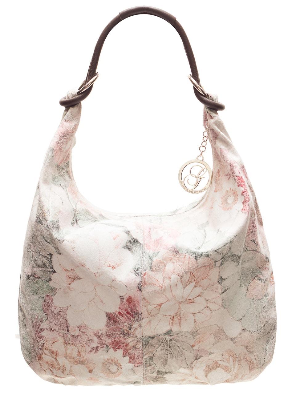 1e611c7bd1 Dámská kožená kabelka s kroužky a květy - Glamorous by GLAM - Kožené ...