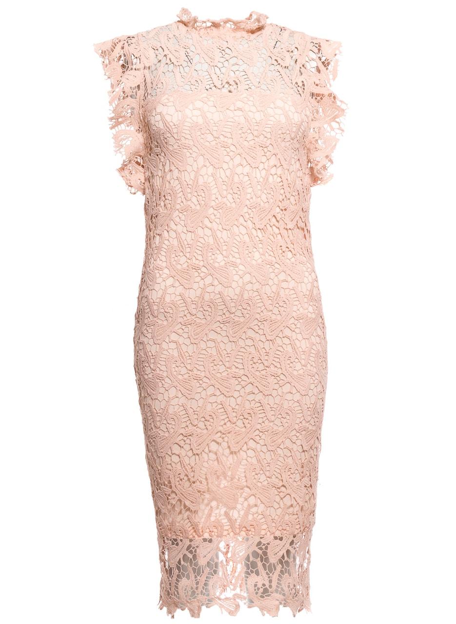 2d168bdbbf73 Dámské krajkové šaty jednoduché - světle růžová - Due Linee ...