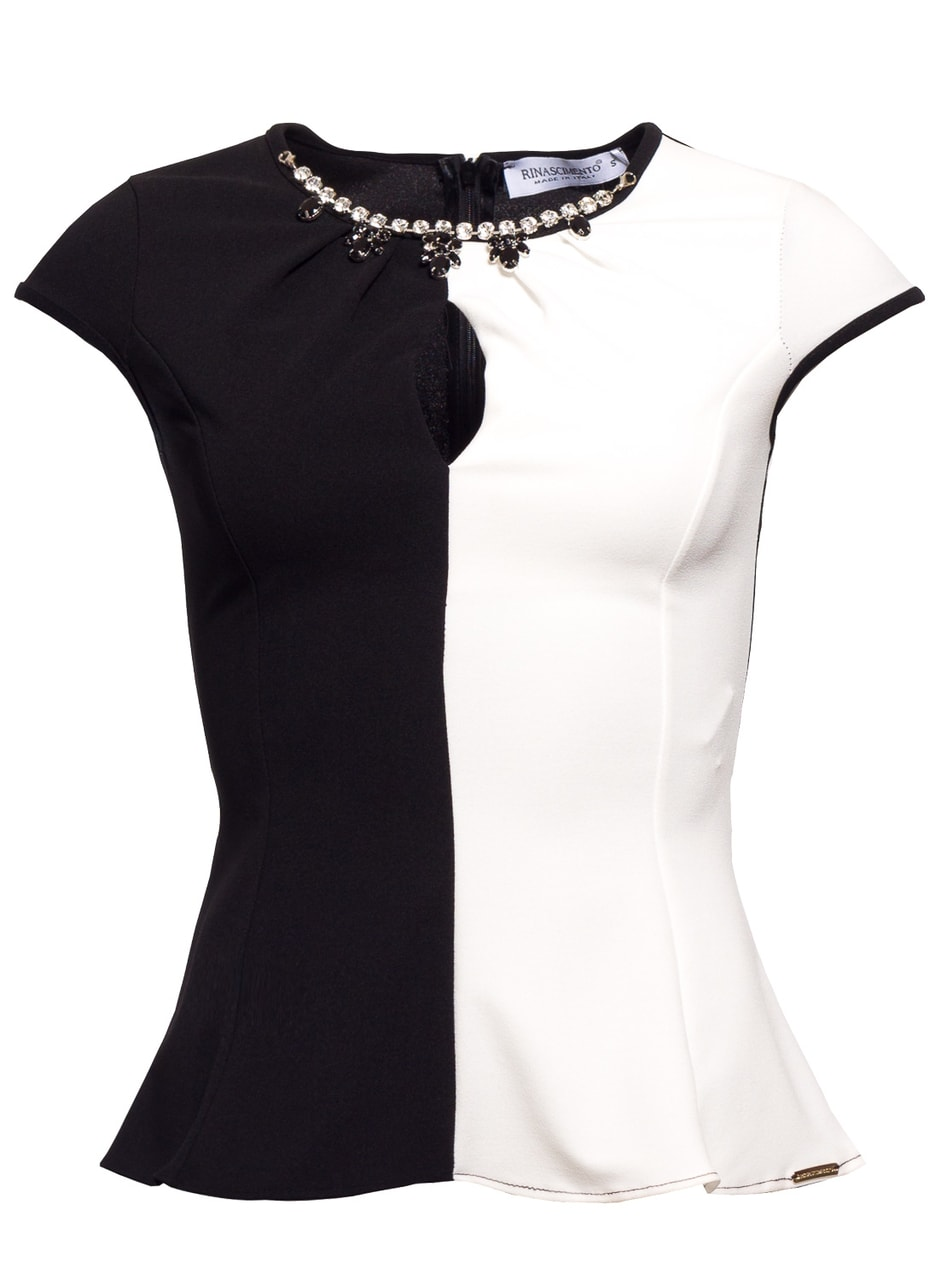 88701abb1edd Glamadise.hu Fashion paradise - Női top Rinascimento - Fekete-fehér ...