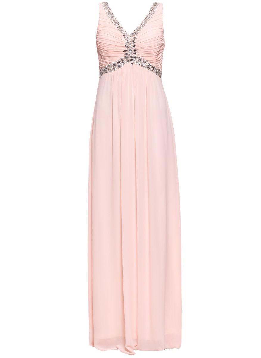 f9f7242e81aa Glamadise.sk - Spoločenské dlhé šaty zdobené v dekolte - svetlo ...