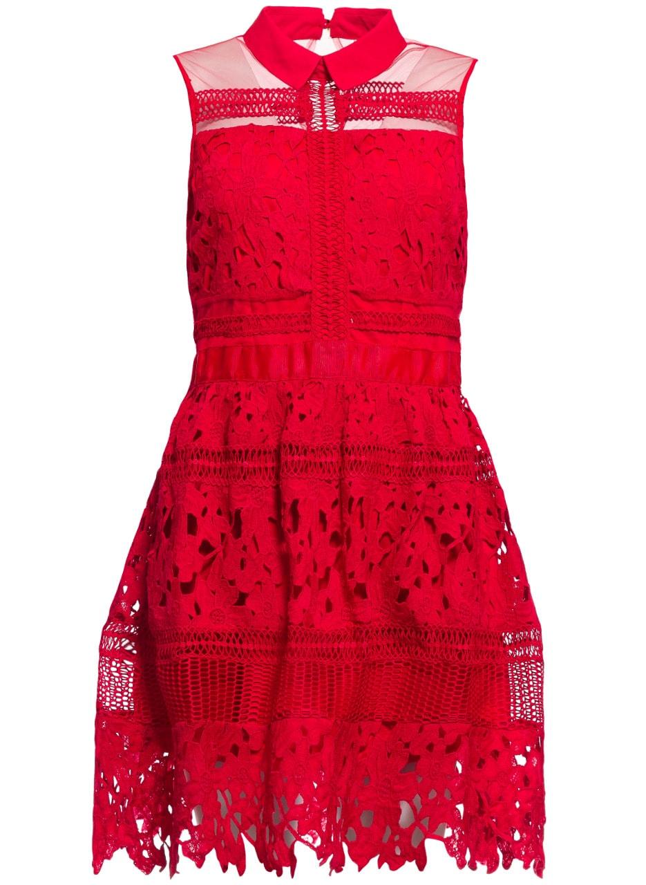 b7fb1414a4 Glamadise.hu Fashion paradise - Női ruha Due Linee - Piros - Due ...
