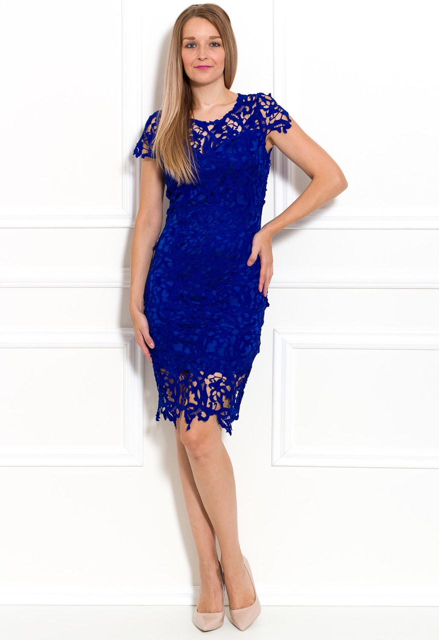 5a13ea85a401 Glamadise.sk - Dámske luxusné krajkové šaty - kráľovsky modrá - Due ...