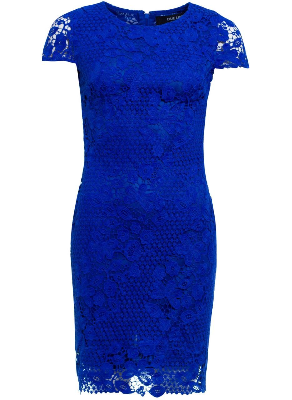 7e342a55d38a Dámské šaty z krajky - královsky modrá - Due Linee - Každodenní šaty ...