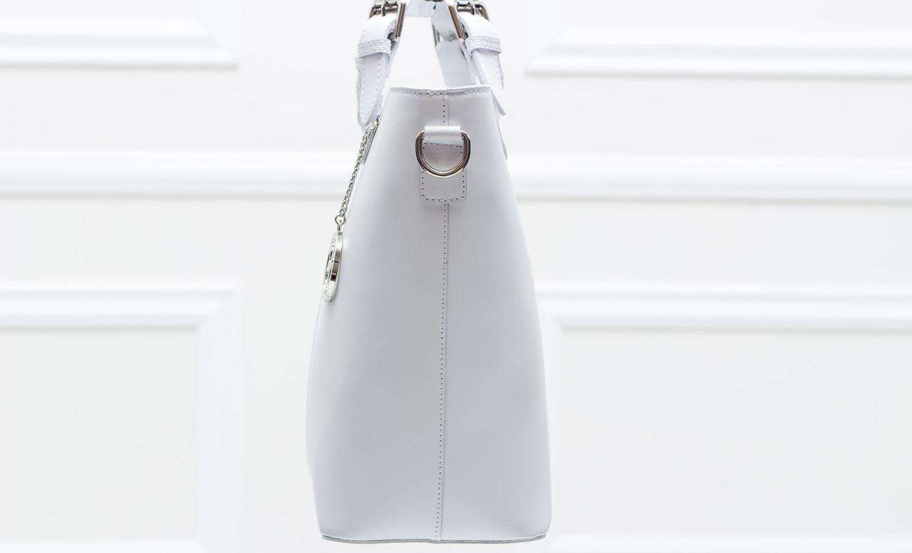 a13b0d80b1 Glamadise.sk - Dámska kožená kabelka do ruky matná - biela ...
