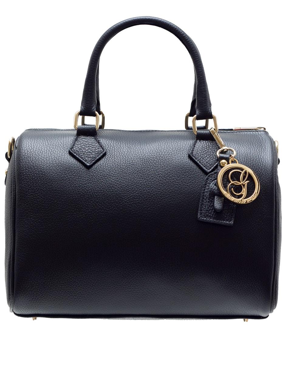 99f664faf7 Dámská kožená kabelka kulatý tvar - černá - Glamorous by GLAM - Do ...