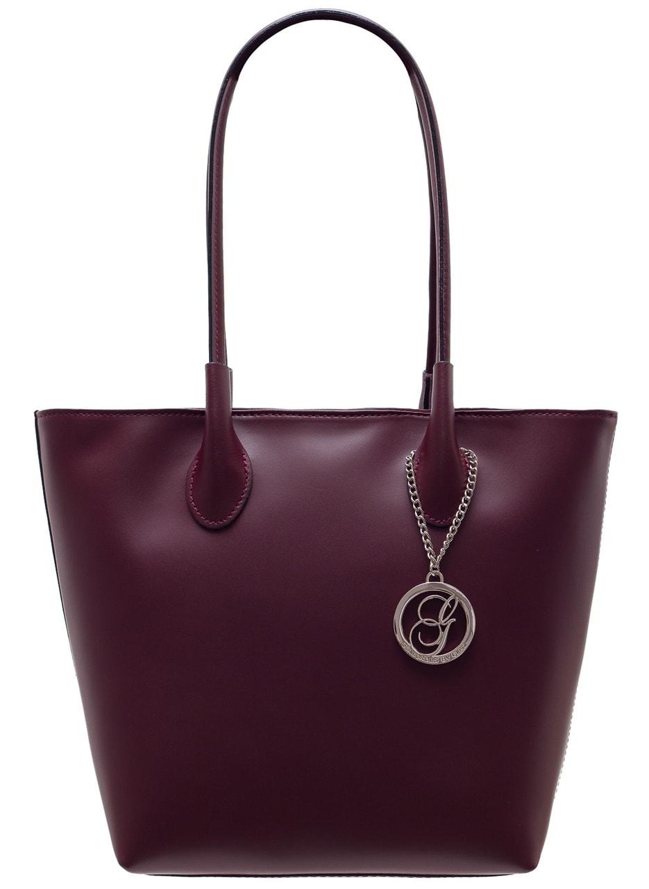 8d95ba2d2c Glamadise.sk - Dámska kožená kabelka cez rameno matná - vínová ...