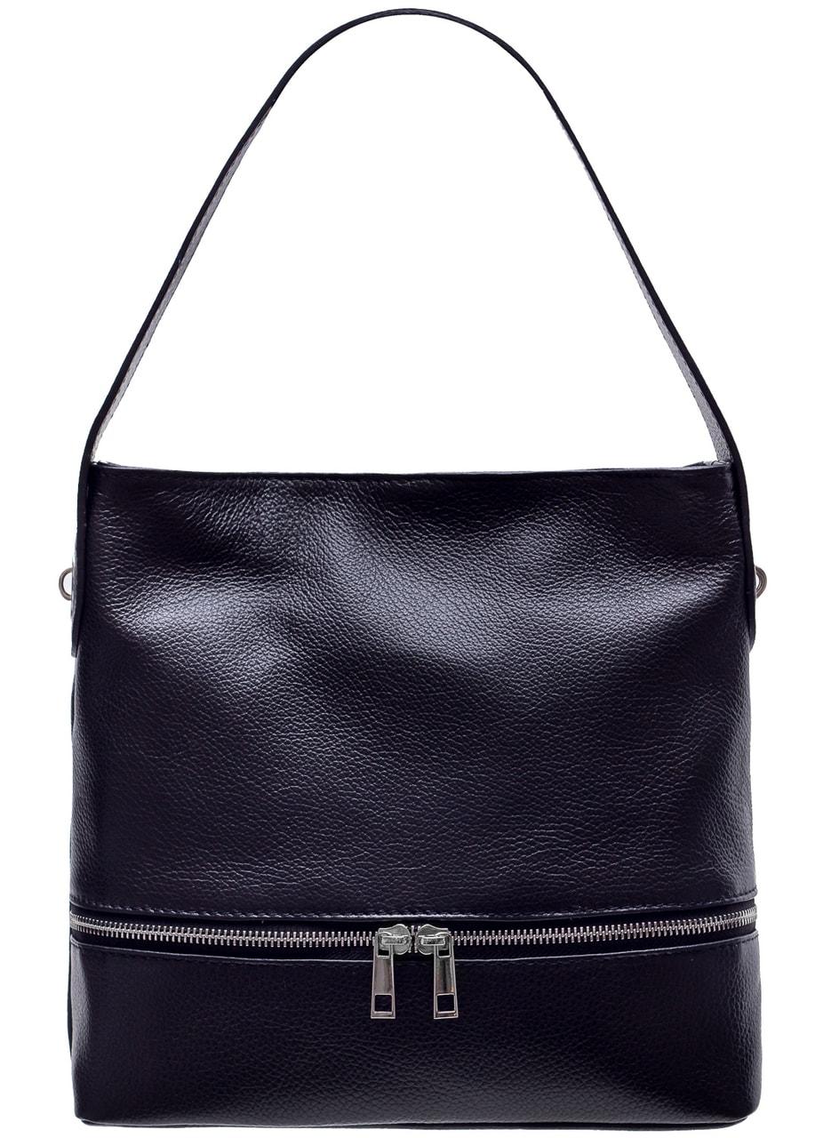 d61e54c696c2d Dámská kožená kabelka na rameno s kapsou na zip - černá - Glamorous ...