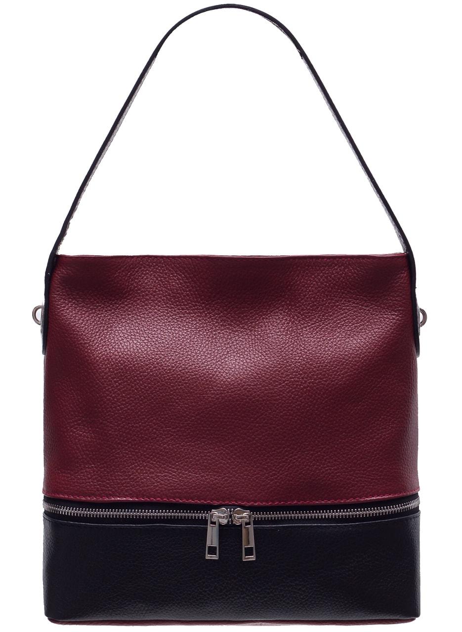 ae3ef179dd Glamadise.sk - Dámska kožená kabelka na rameno s vreckom na zips ...