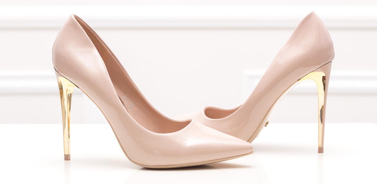 c1433750f2 Dámské lakované lodičky - béžovo zlatá - GLAM GLAMADISE shoes ...