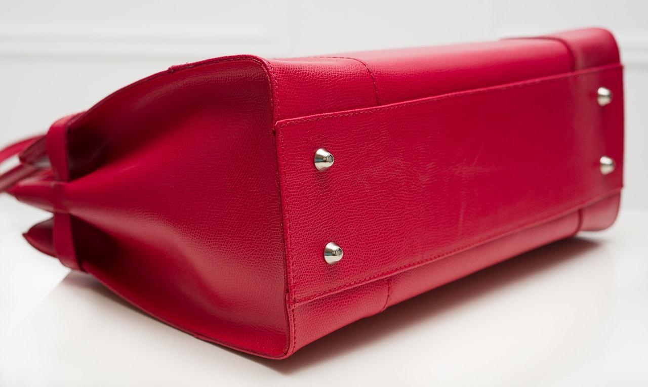 4b54f286de Glamadise.sk - Dámska kožená kabelka dlhé ucho STEFANIE - červená ...