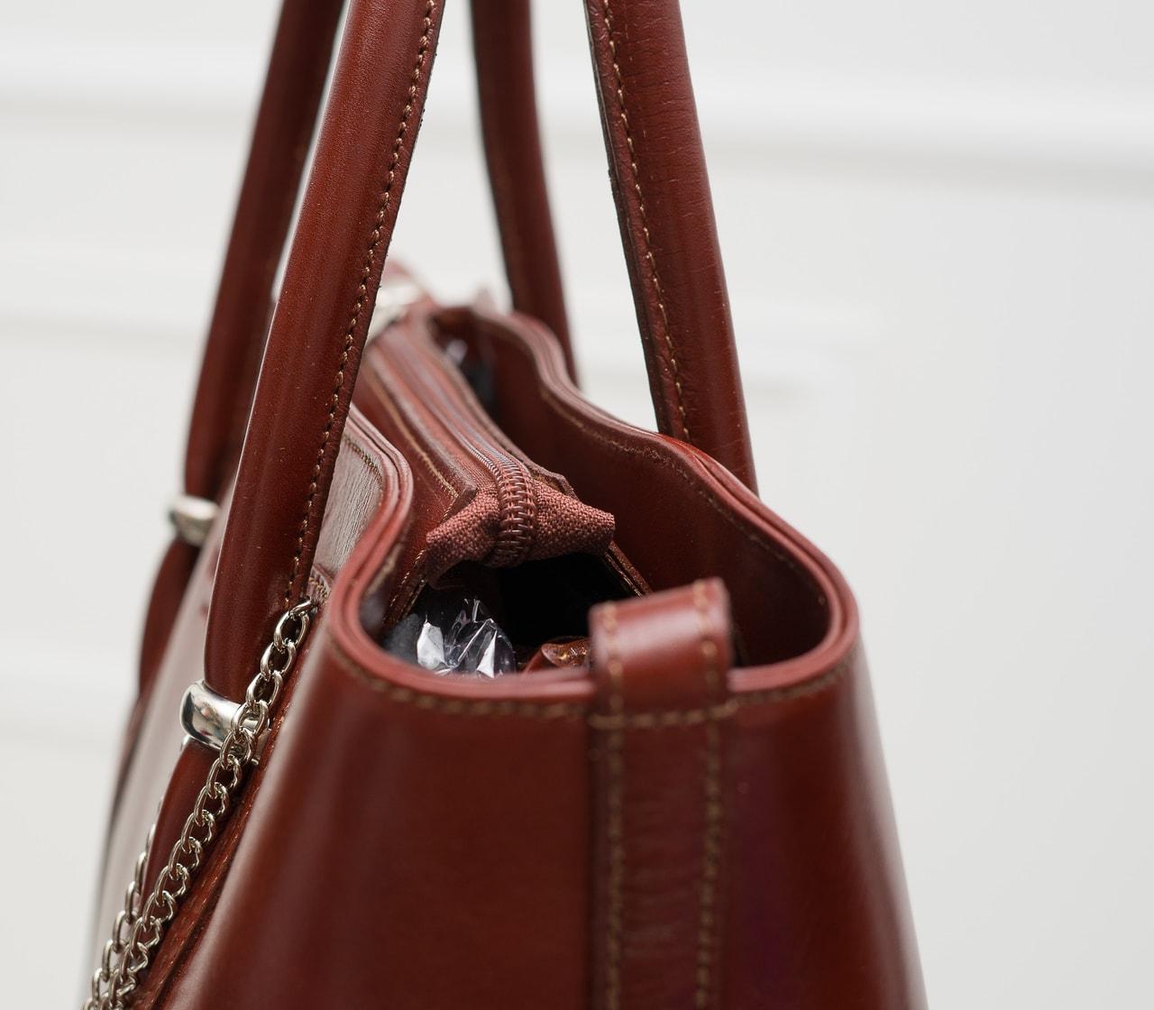 2041a8fff4 Dámská kožená kabelka do ruky PAOLA - hnědá - Glamorous by GLAM - Do ...
