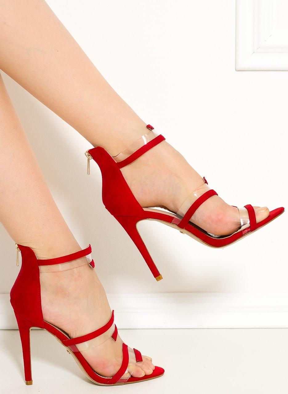 66a3fe1d8b8c Glamadise.sk - Dámske páskové lodičky červené - GLAM GLAMADISE shoes ...