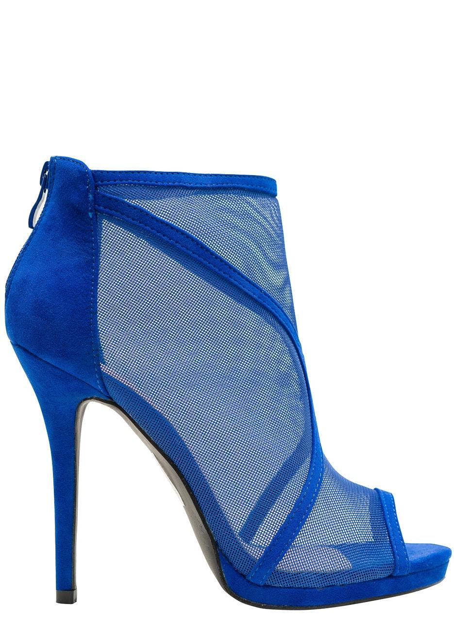 e0b73231eb87 Dámské kotníková obuv královsky modrá se síťkou - GLAM GLAMADISE ...