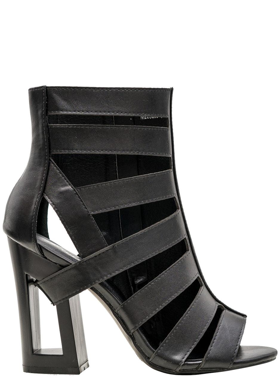 569c503388 Glamadise.sk - Dámske remienkové sandále na podpätku čierne ...