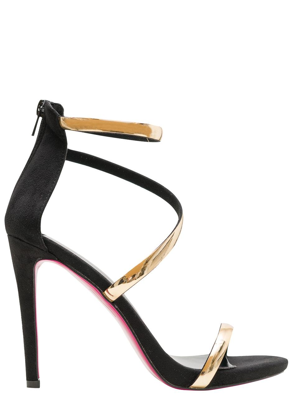 349306deed38f Glamadise.sk - Dámske čierno-zlaté sandále - GLAM&GLAMADISE shoes ...