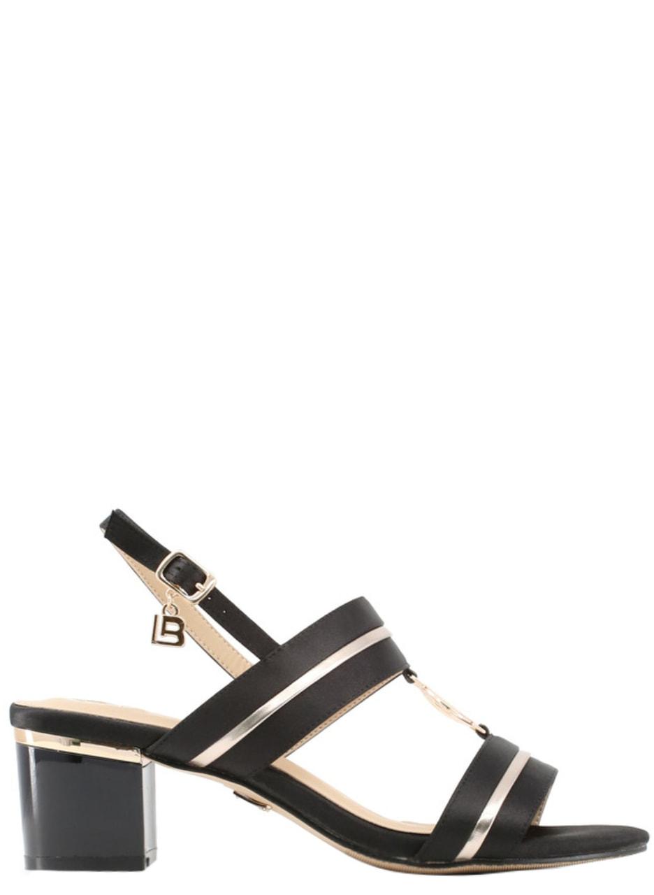 7f610ac55b9e Dámské sandály na nízkém podpatku černé - Laura Biagotti - Sandály ...