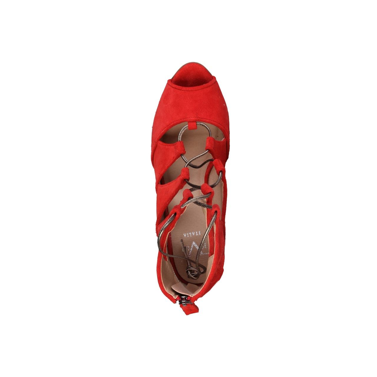 f6bc89eb81f3 Glamadise.sk - Dámske kožené sandále červené - Versace 1969 ...