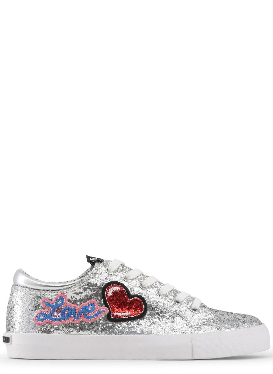 0e5c2709e21a Love Moschino dámské tenisky glitrované stříbrné - Love Moschino ...