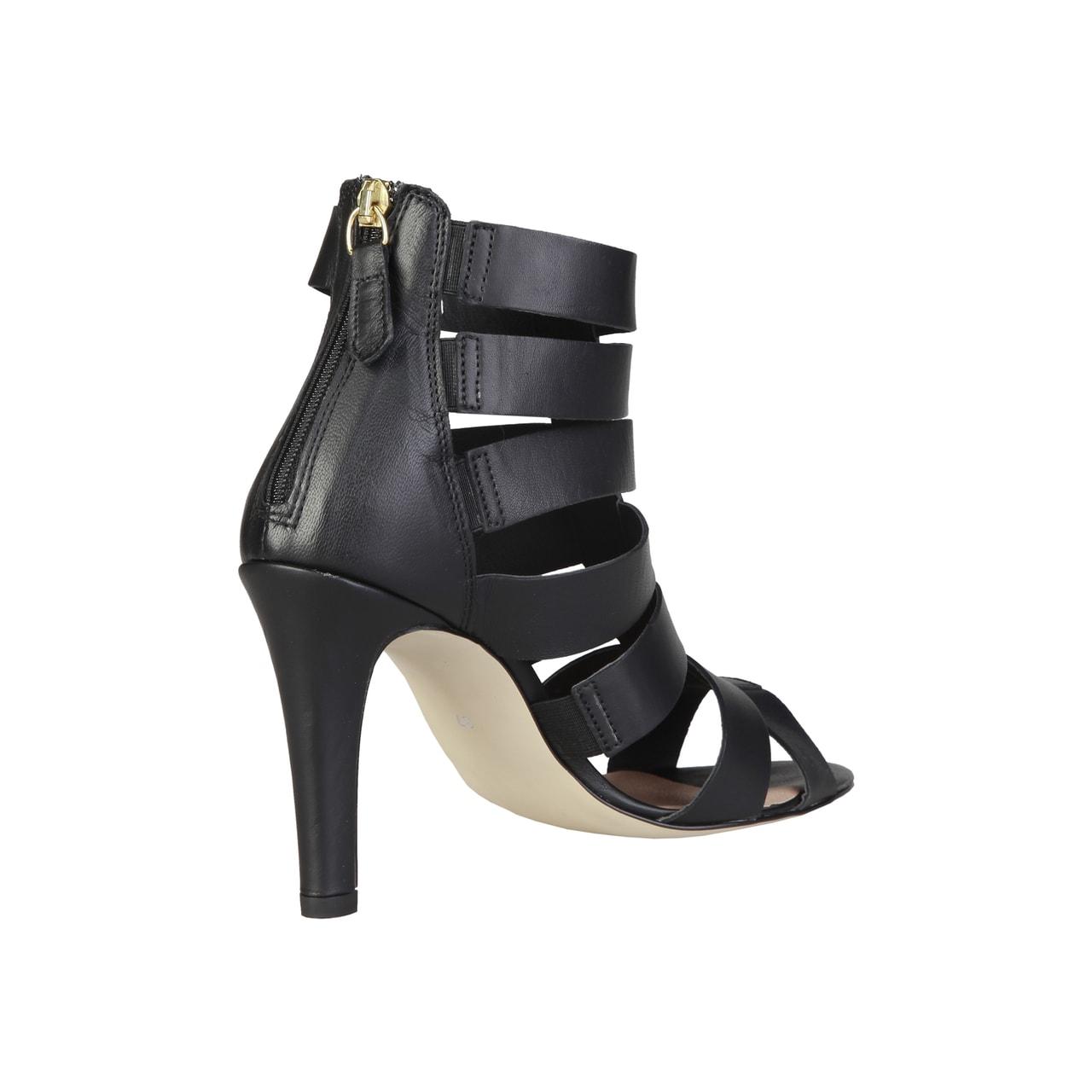 b95dda6684 Glamadise.sk - Dámske kožené páskové sandále čierne - Pierre Cardin ...
