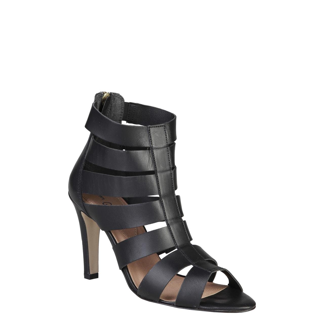 7a5a9f998627 Glamadise.sk - Dámske kožené páskové sandále čierne - Pierre Cardin ...