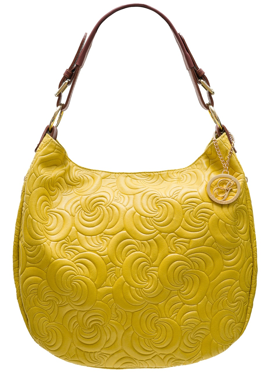 8aefa7db7c Glamadise.sk - Dámska kožená kabelka cez rameno zdobená kvetmi ...