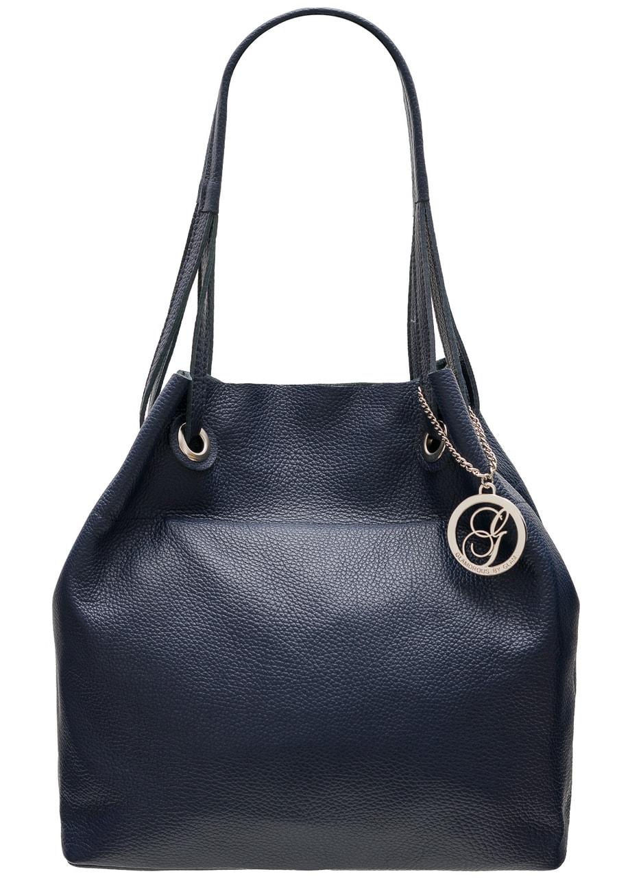 8636b44903 Glamadise.sk - Dámska kožená kabelka cez rameno ANTONIA - tmavá ...