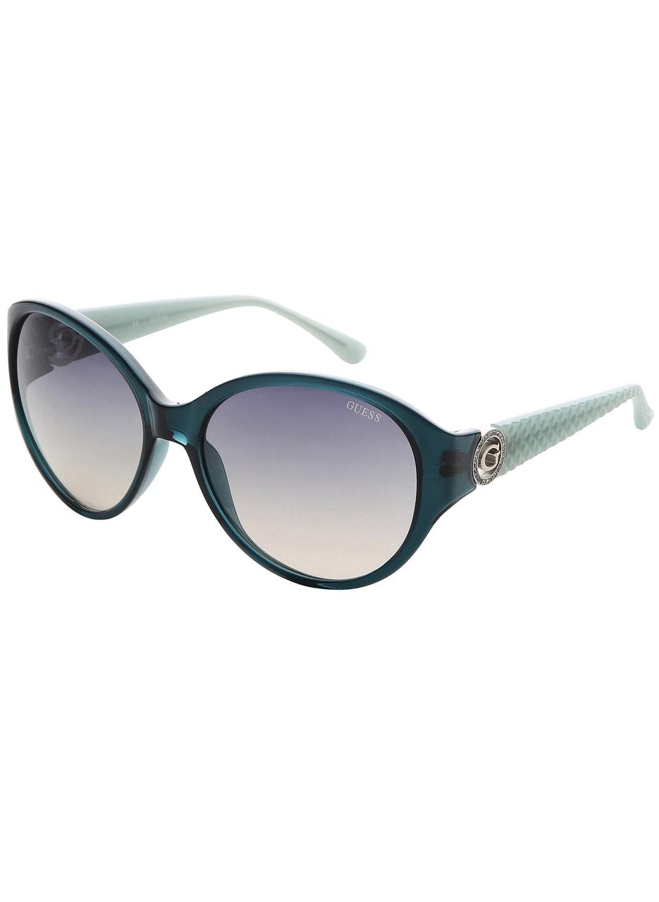 7c8498cbf Glamadise.sk - Guess slnečné okuliare zelené - Guess - Doplnky ...