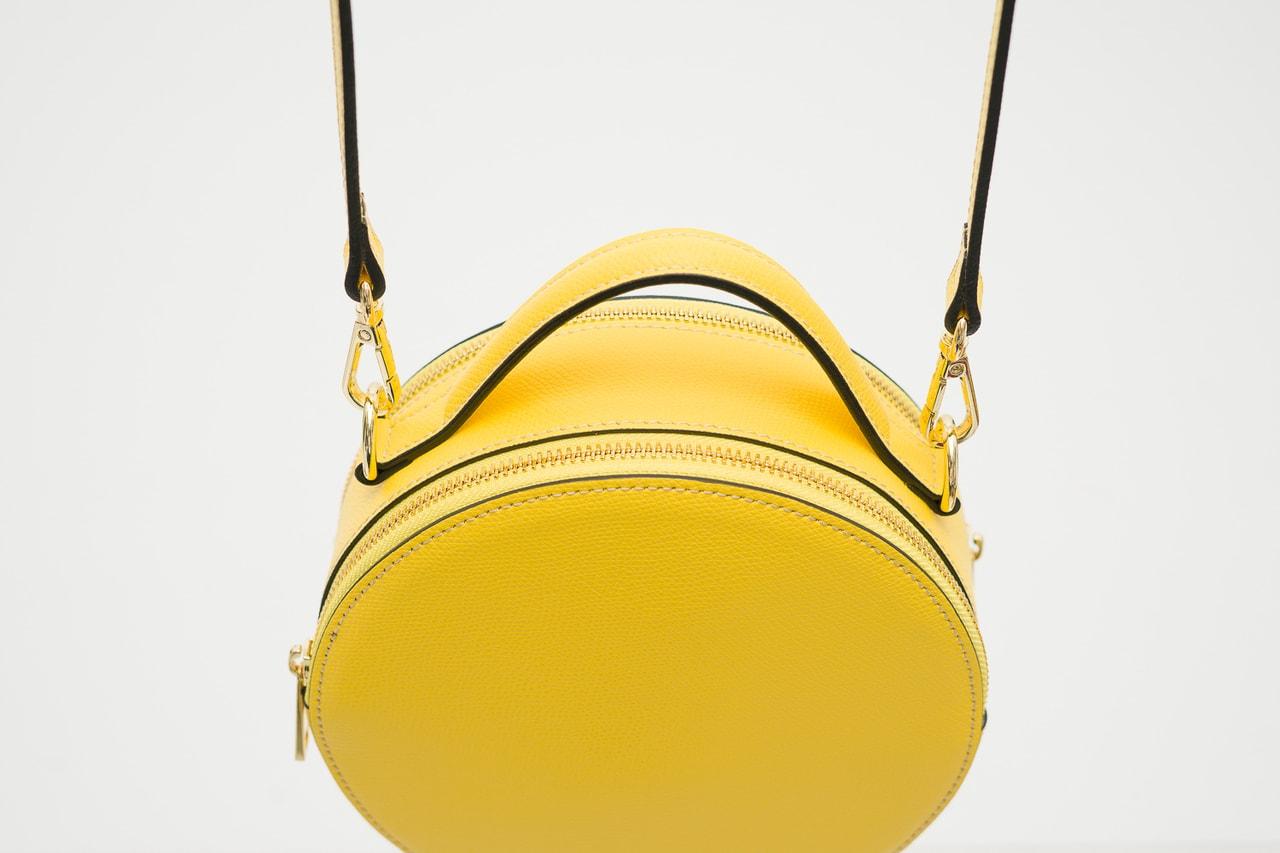 455842f256 Glamadise.sk - Dámska kožená crossbody kabelka guľatá - žltá ...