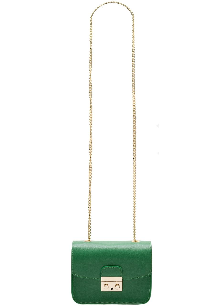 106ab85ddd Dámská kožená crossbody kabelka ražená - zelená - Glamorous by GLAM ...