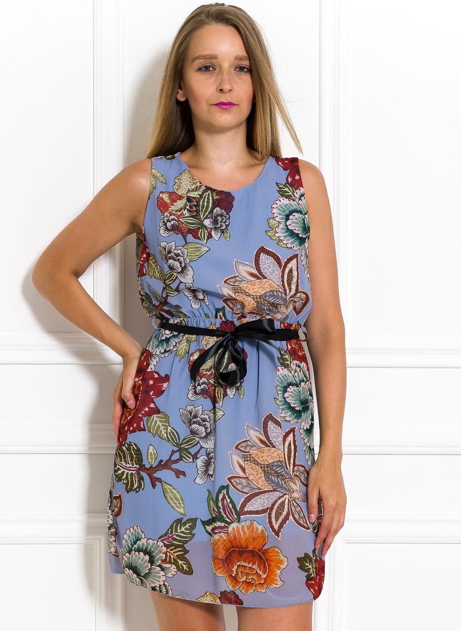a07cac6cc Letní šifonové šaty s květinami světle modré - Glamorous by Glam ...