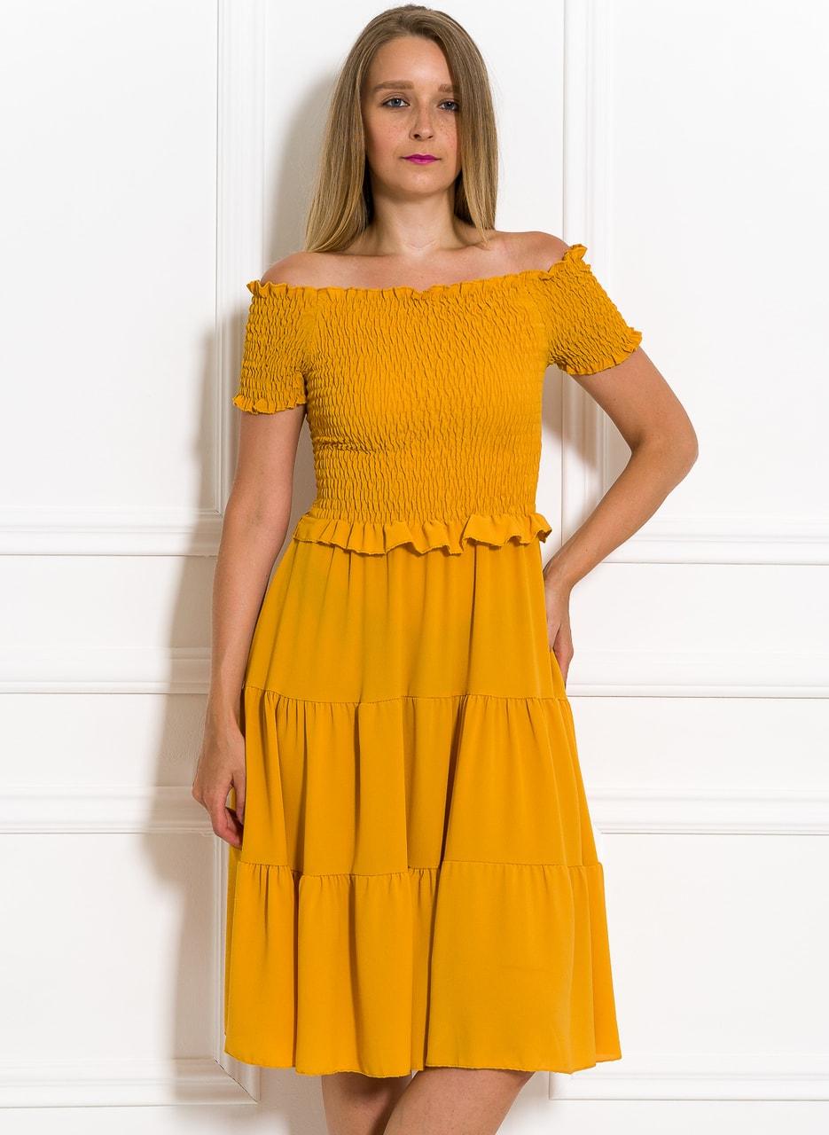 d39ef77c6880 Letní šaty s řasením žluté - Glamorous by Glam - Letní šaty - Šaty ...