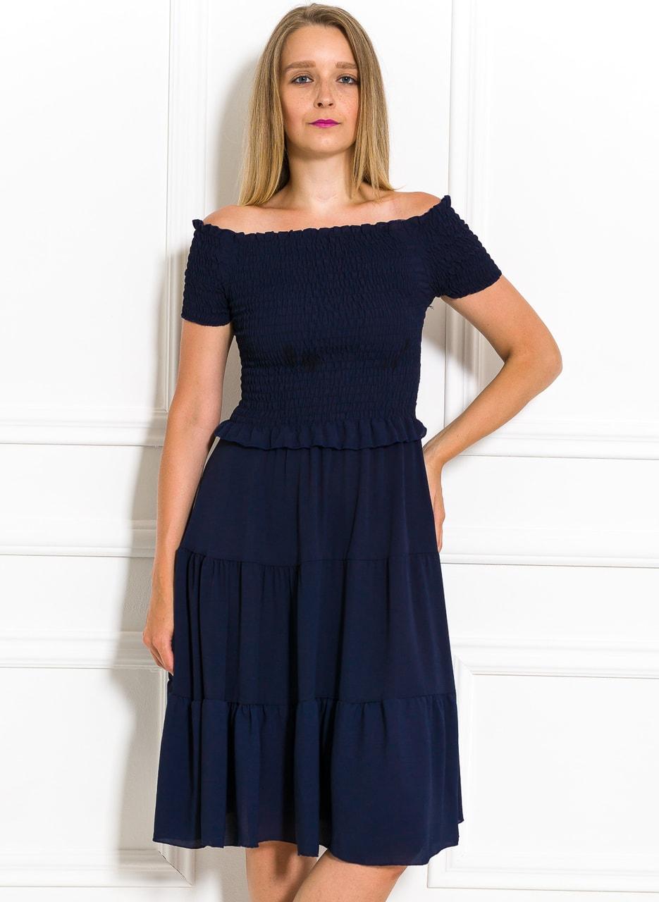 946769b70eb5 Letní šaty s řasením tmavě modré - Glamorous by Glam - Letní šaty ...