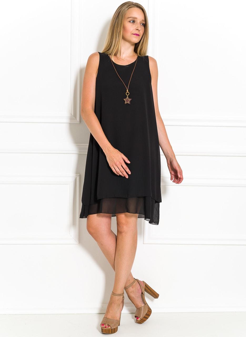 f99772a26911 Letní šaty volného střihu černé - Glamorous by Glam - Letní šaty ...