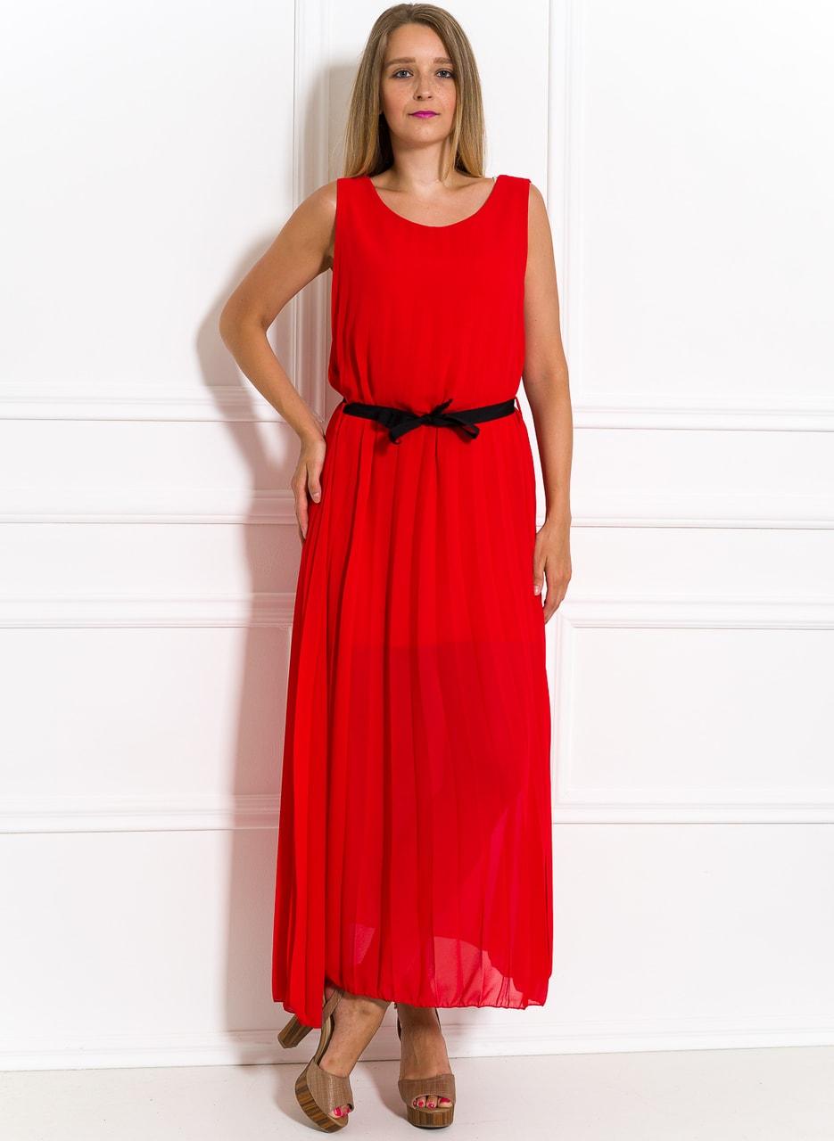 0be6b6fd292a Glamadise.sk - Dlhé šaty červené plisované - Glamorous by Glam ...