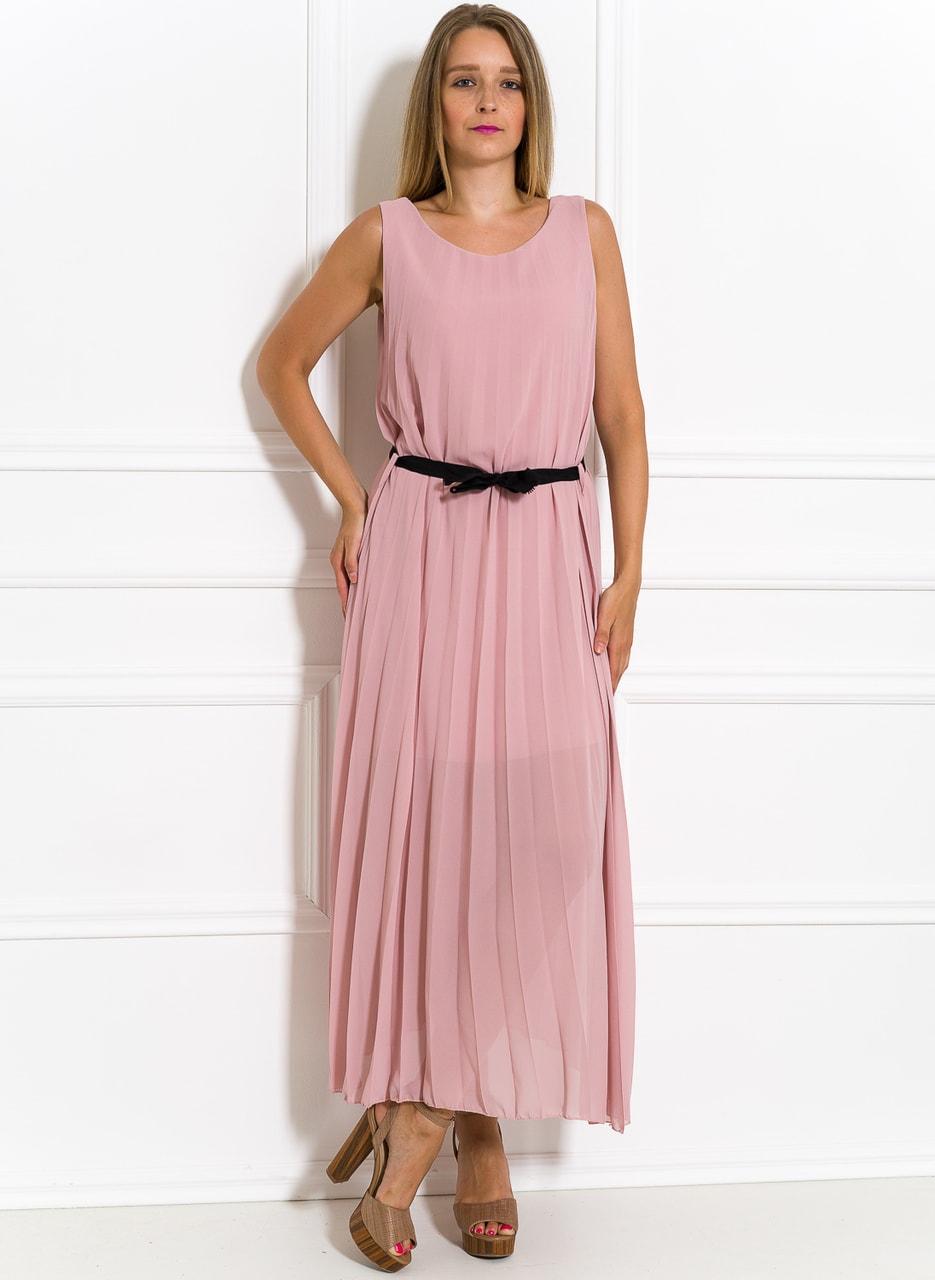 3b96a56416b0 Glamadise.sk - Dlhé šaty svetlo ružové plisované - Glamorous by Glam ...