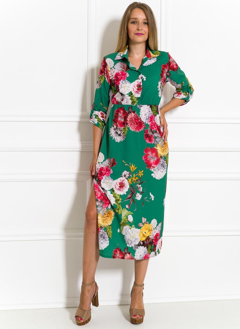 108bcf3f92c7 Letní šaty košilové s květinami zelené - Glamorous by Glam - Letní ...