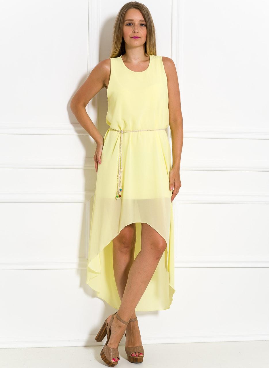 aee1397b0392 Glamadise.sk - Dámske letné šaty asymetrické svetložlté - Glamorous ...